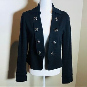 Beautiful Black Jacket with Color Silver Buttons
